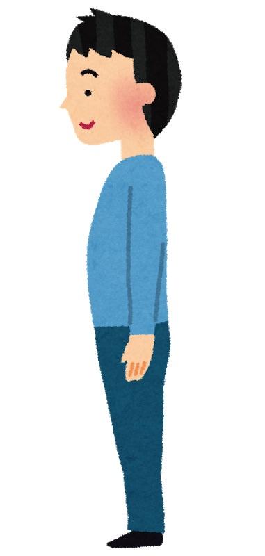 姿勢よく立つ人のイラスト