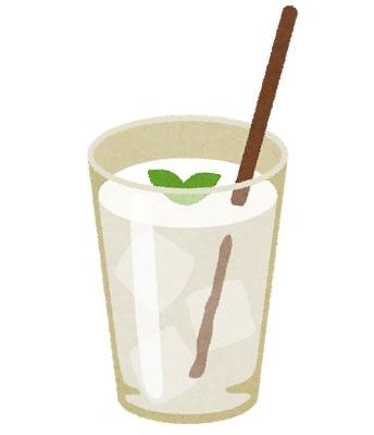 白い飲み物のイラスト